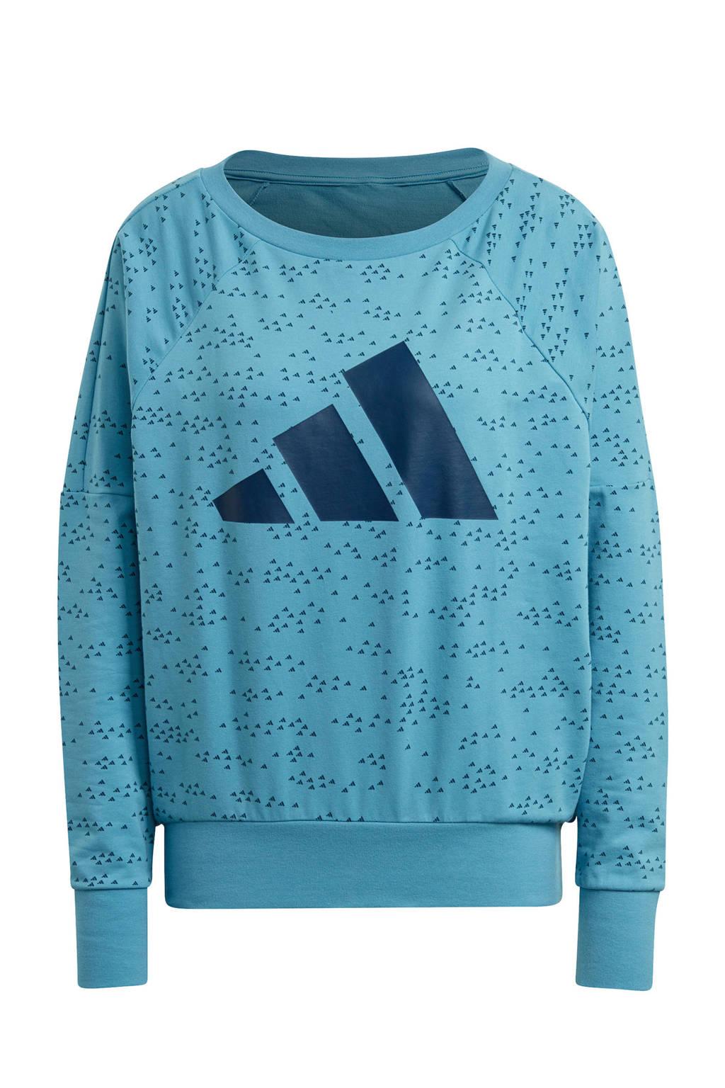 adidas Performance sportsweater lichtblauw, Lichtblauw