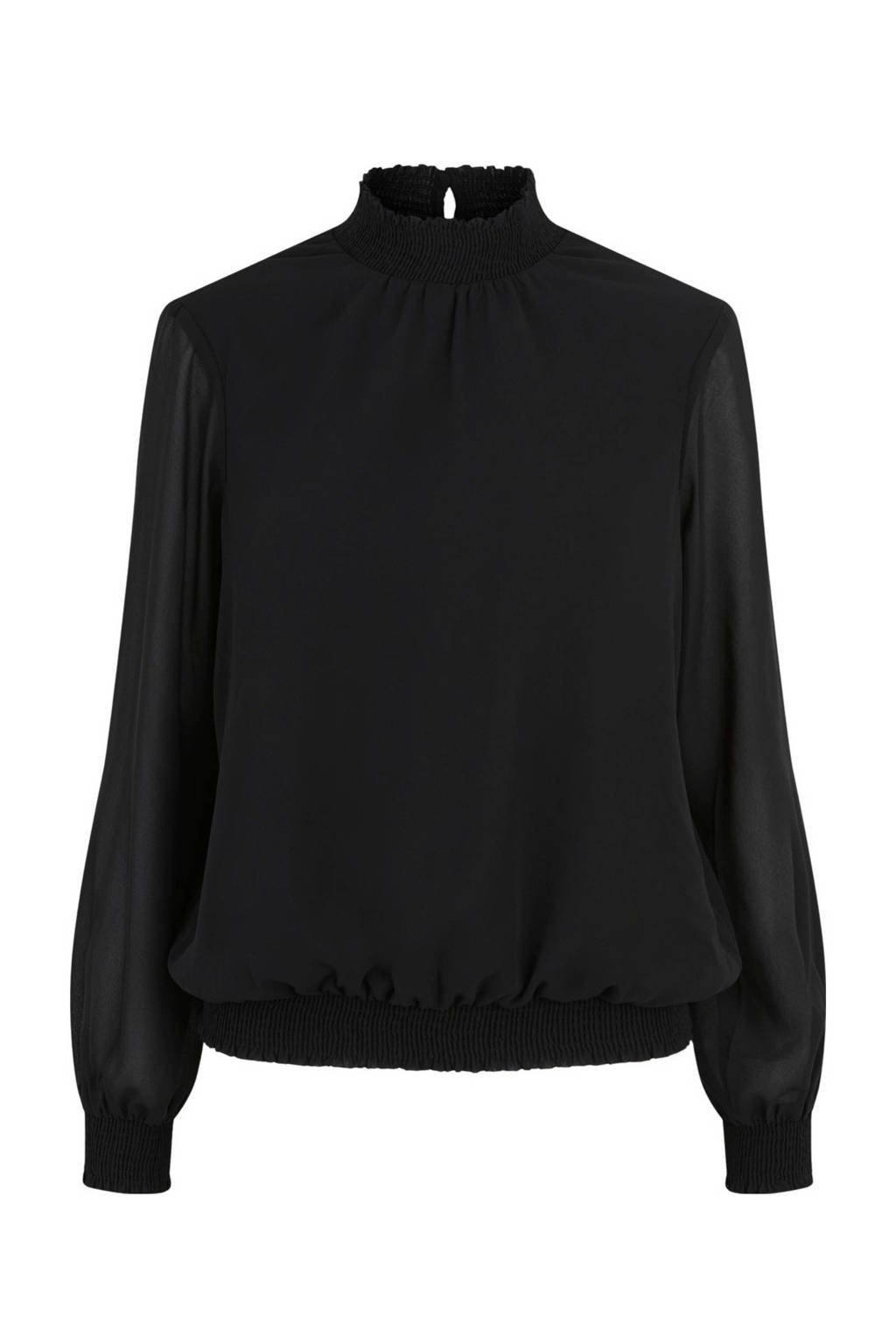 PIECES blouse zwart, Zwart