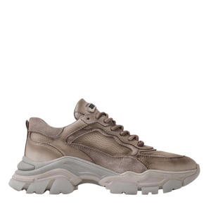 Tayke-Over  leren chunky sneakers taupe