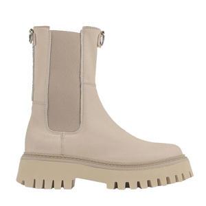 Groov-y  hoge leren chelsea boots camel