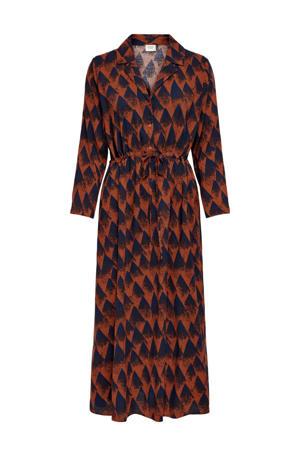 maxi jurk met all over print rood