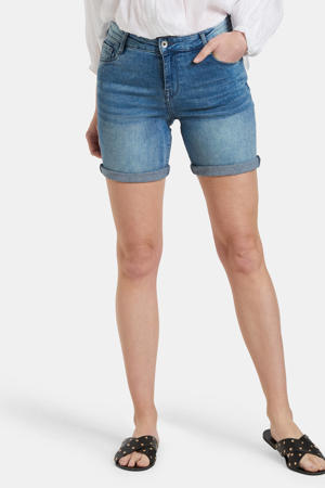skinny jeans short Loes blauw