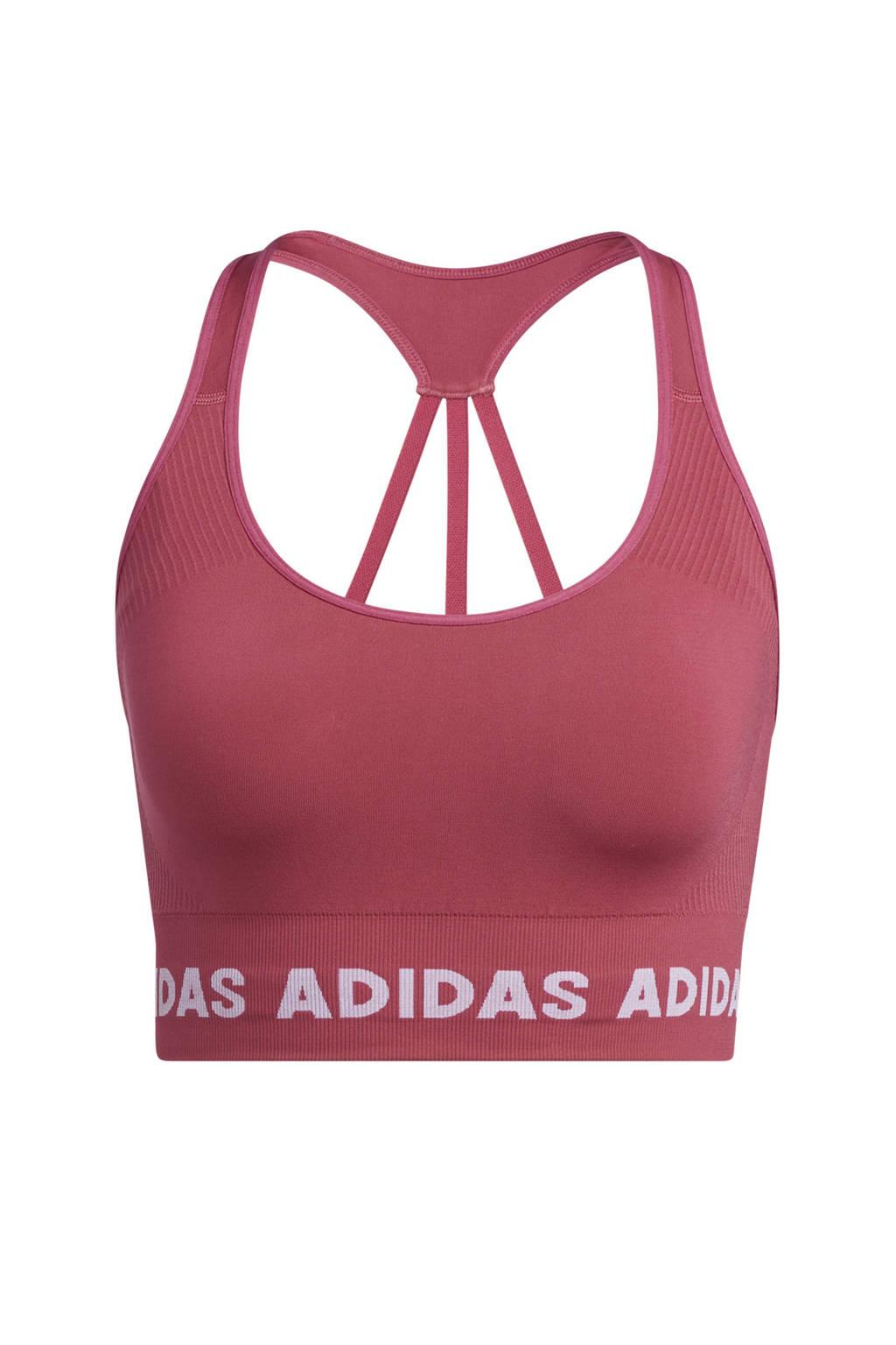 adidas Performance level 2 Aeroknit sportBH roze, Roze