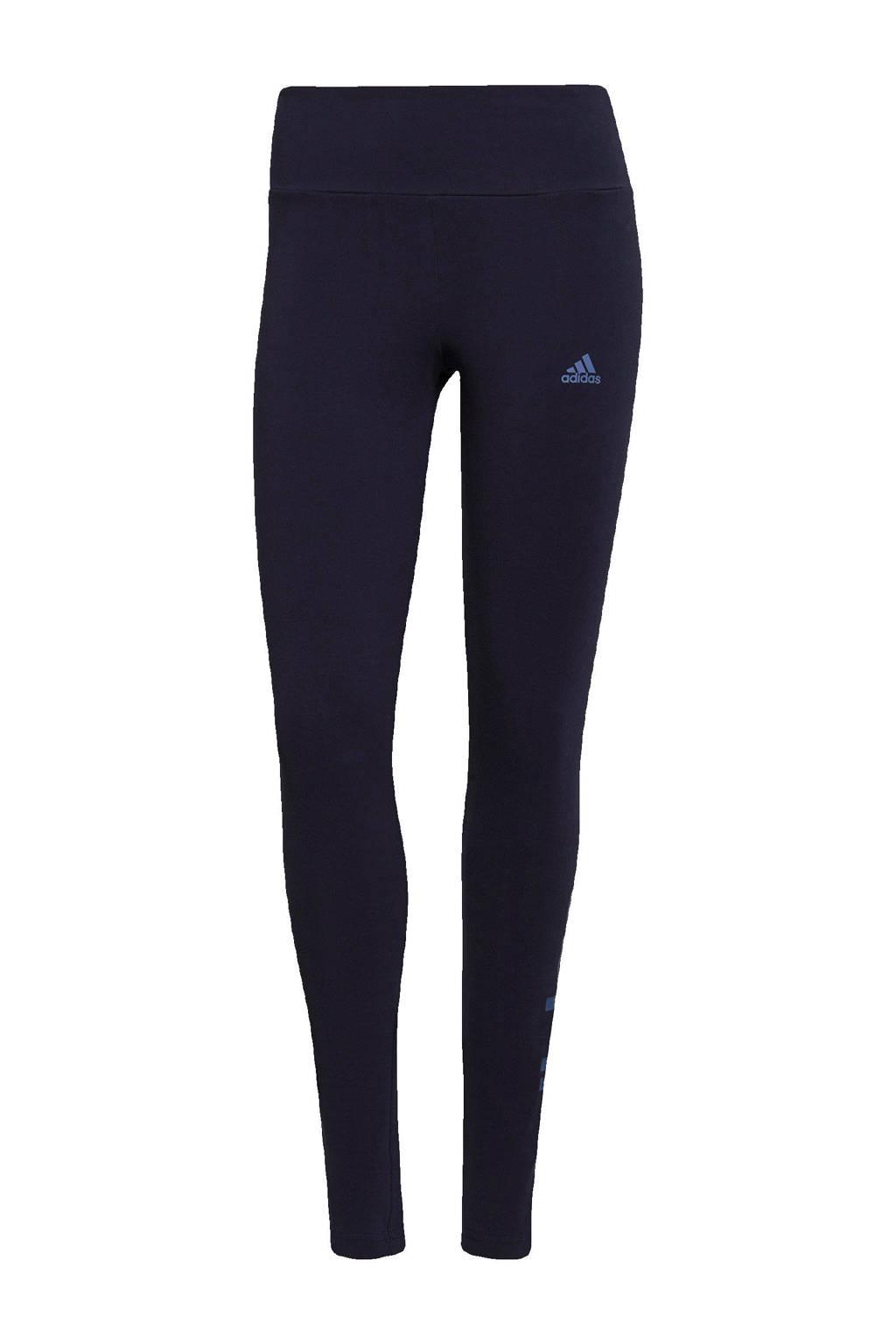 adidas Performance sportlegging donkerblauw/blauw, Donkerblauw/blauw