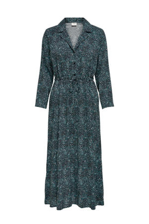 maxi jurk met all over print antraciet