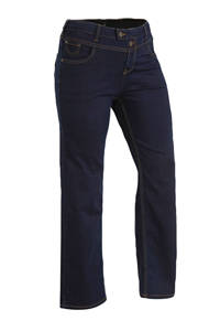 Zizzi high waist straight fit jeans lengtemaat 32, Dark denim