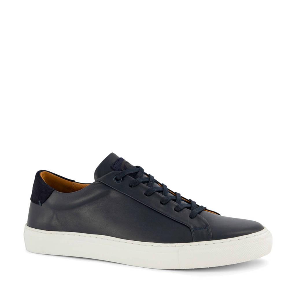 AM SHOE   leren sneakers donkerblauw, Donkerblauw
