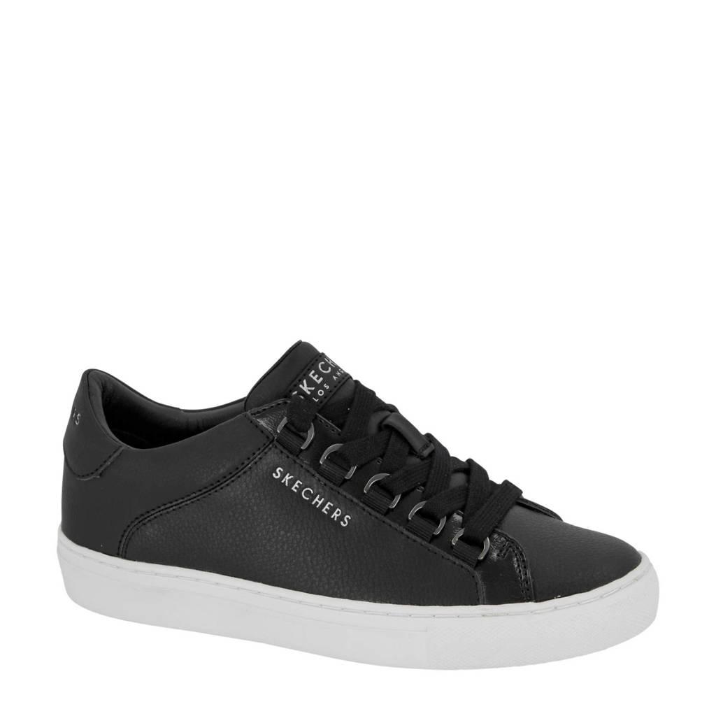 Skechers   leren sneakers zwart, Zwart