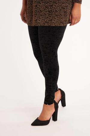 fluwelen legging zwart