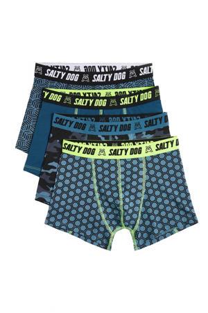 boxershort - set van 4 grijsblauw/zwart