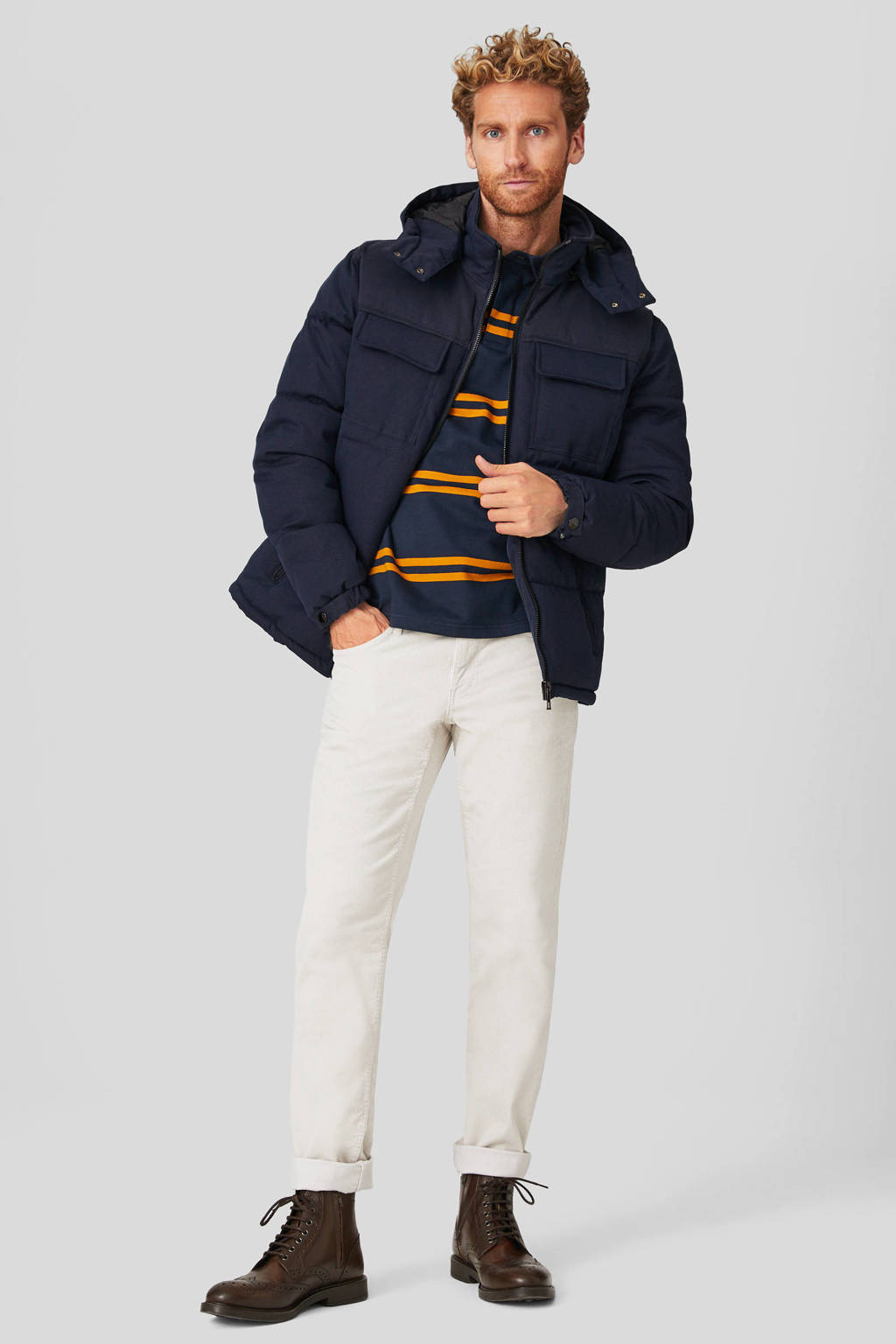 C&A Angelo Litrico  jas donkerblauw, Donkerblauw