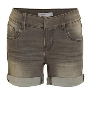 jeans short Salli grijs stonewashed