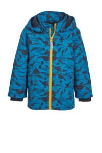 NAME IT MINI  zomerjas Max met all over print blauw/zwart/geel, Blauw/zwart/geel