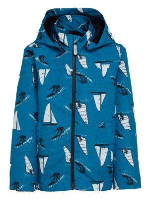 zomerjas Max met all over print blauw