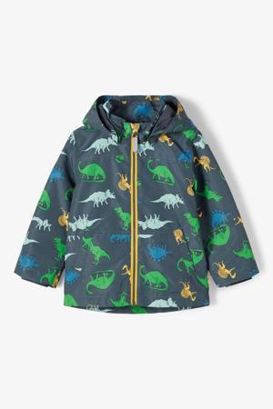 zomerjas Max met dierenprint donkerblauw/groen/geel