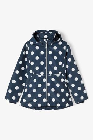 zomerjas Maxi met stippen donkerblauw
