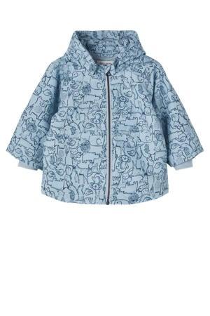 baby  zomerjas Max met all over print blauw