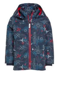 NAME IT MINI  zomerjas Max met all over print donkerblauw, Donkerblauw