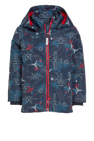 zomerjas Max met all over print donkerblauw
