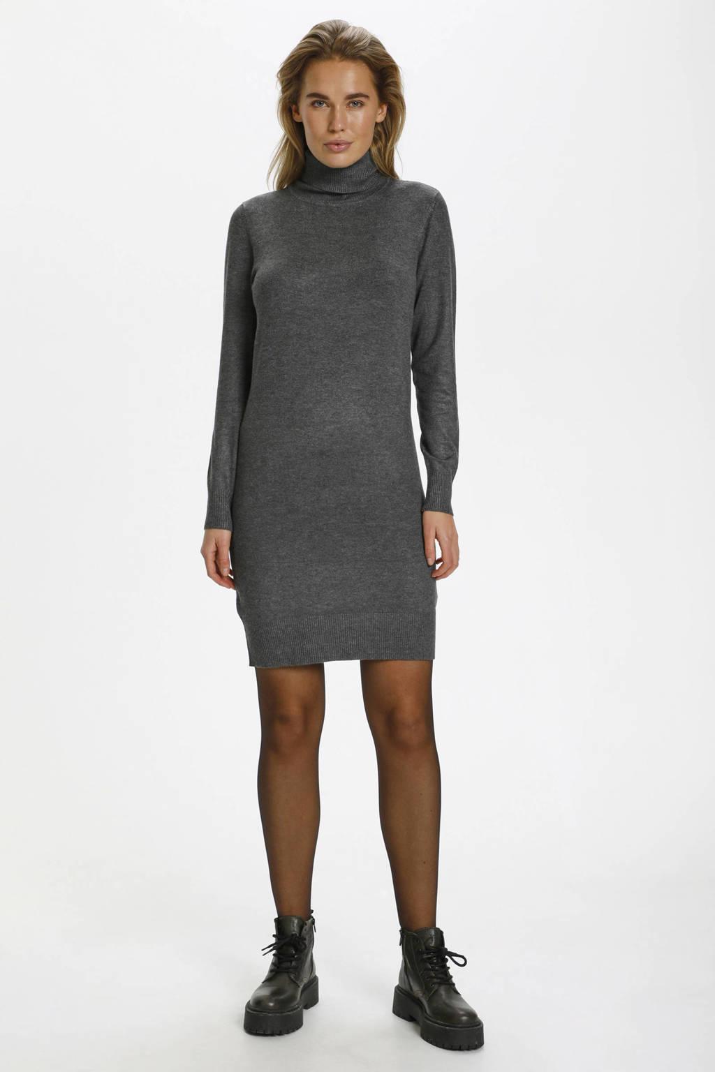 Saint Tropez fijngebreide jurk Mila grijs, Grijs