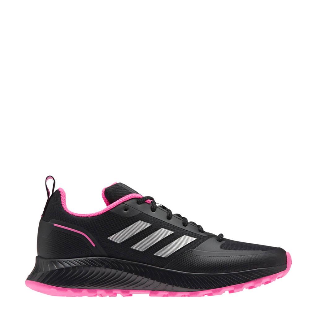 adidas Performance Runfalcon 2.0 hardloopschoenen trail zwart/zilver/roze, Zwart/zilver/roze