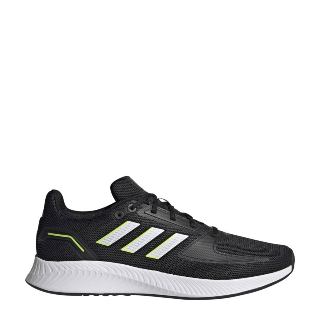 adidas Performance Runfalcon 2.0 hardloopschoenen zwart/wit/geel, Zwart/wit/geel