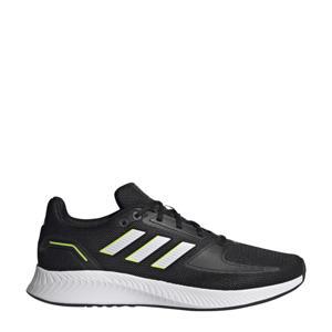 Runfalcon 2.0 hardloopschoenen zwart/wit/geel