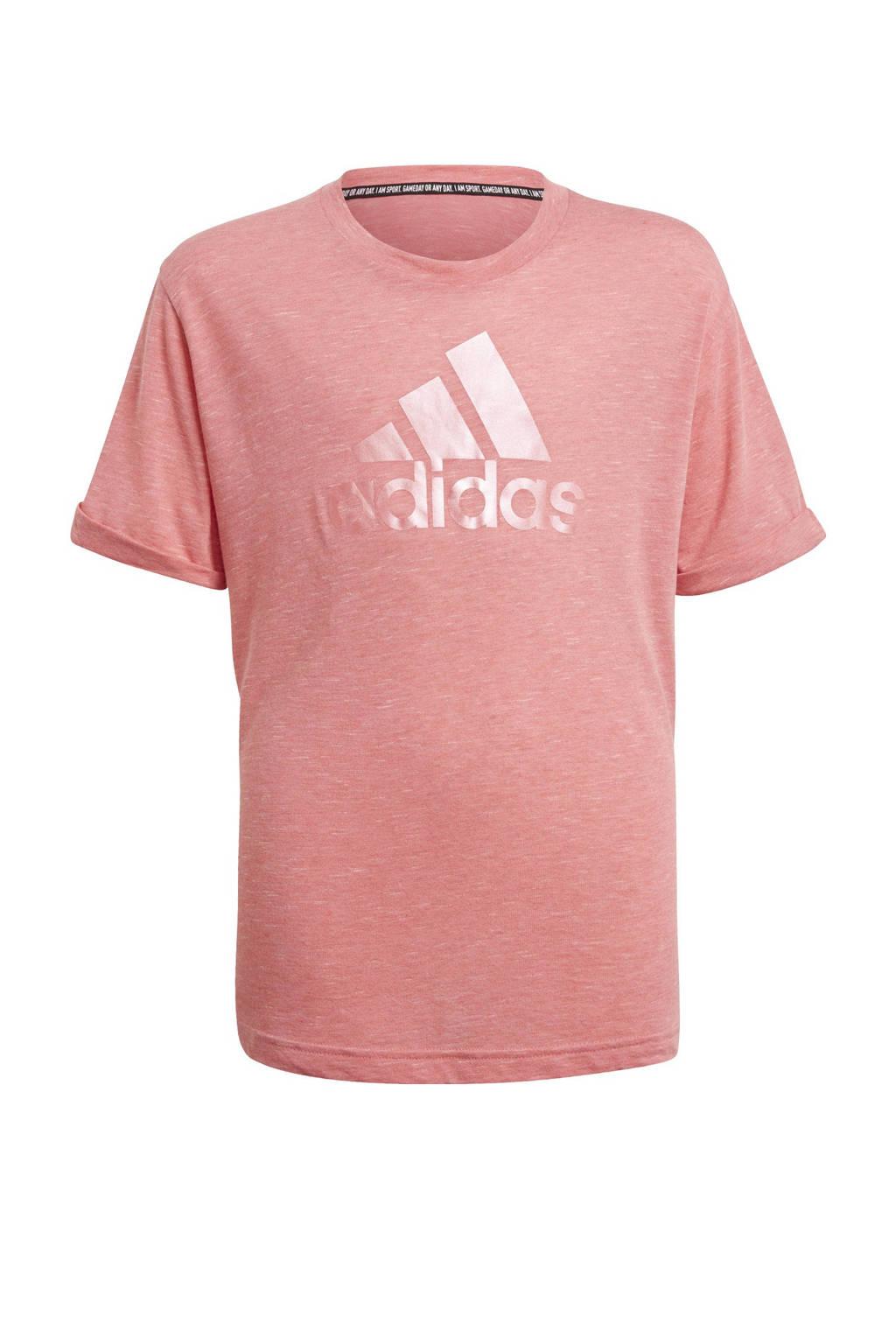 adidas Performance Future Icons sport T-shirt lichtroze, Lichtroze