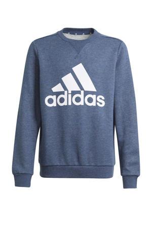sportsweater donkerblauw/wit