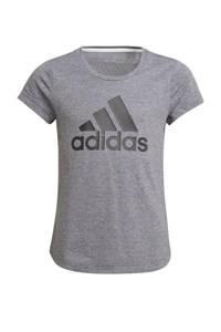 adidas Performance sport T-shirt grijs/zwart, Grijs/zwart