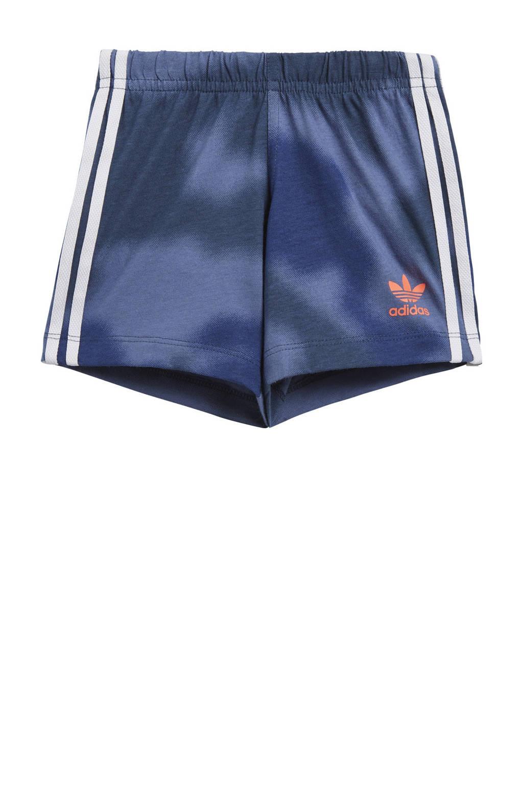adidas Originals   T-shirt + short wit/blauw/oranje, Wit/blauw/oranje