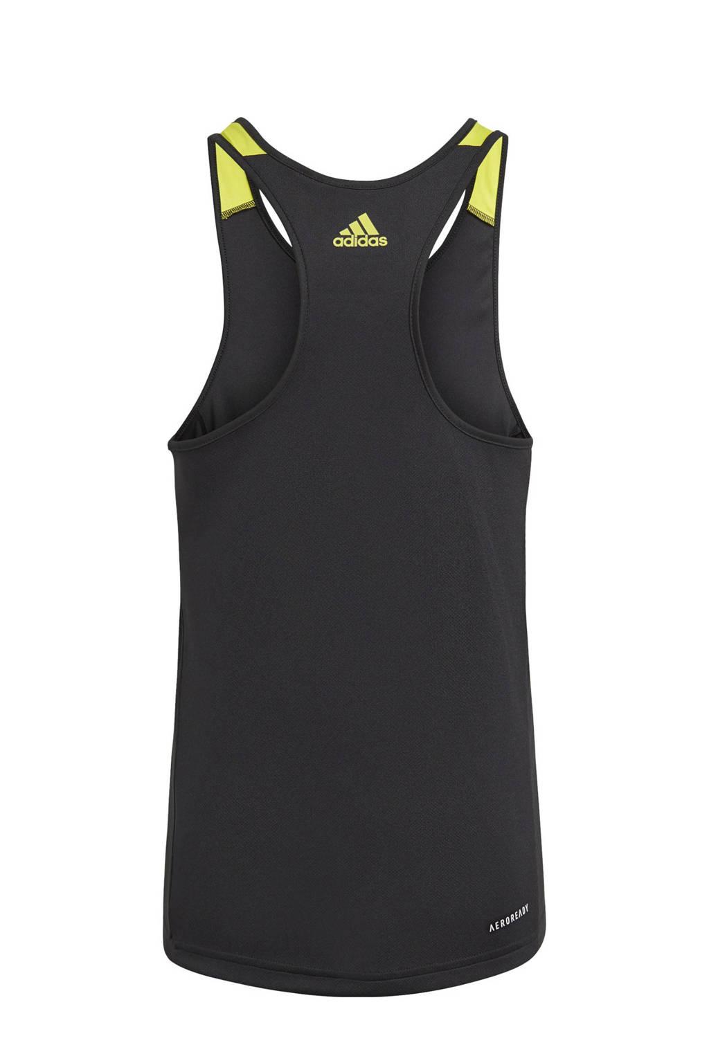 adidas Performance Designed2Move sporttop zwart/geel/grijs, Zwart/geel/grijs