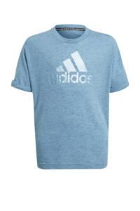 adidas Performance Future Icons sport T-shirt grijsblauw, Grijsblauw