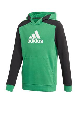sporthoodie groen/zwart