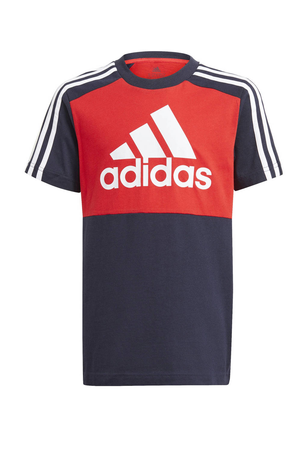 adidas Performance   sport T-shirt rood/donkerblauw/wit, Rood/donkerblauw/wit