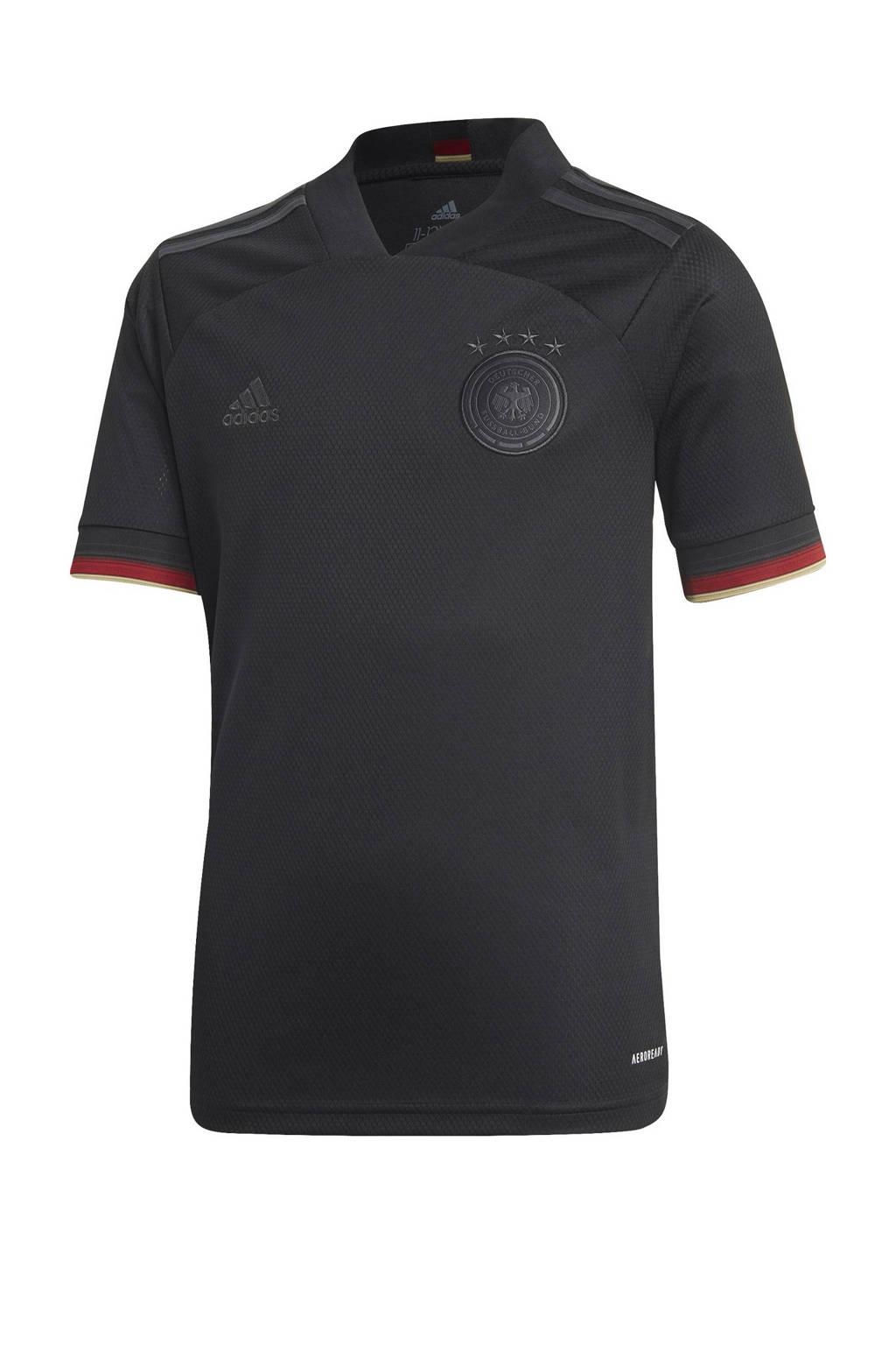 adidas Performance Junior Duitsland uit voetbalshirt zwart, Zwart