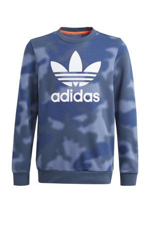 sweater blauw/wit