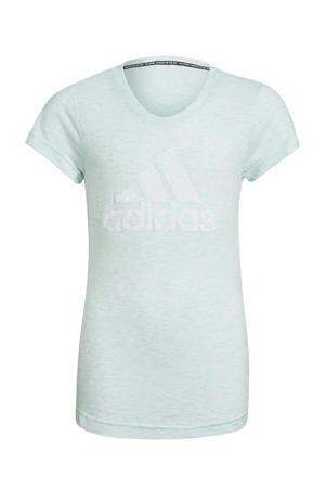 Girls In Power sport T-shirt mintgroen