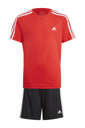 Designed2Move T-shirt + short rood/zwart