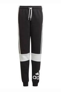adidas Performance   fleecesportbroek zwart/wit, Zwart/wit