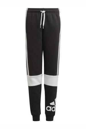 fleecesportbroek zwart/wit
