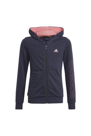 sportvest donkerblauw/roze