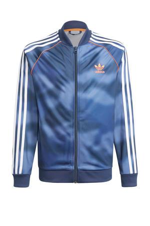 Superstar vest blauw/wit