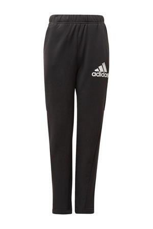 fleece sportbroek zwart/wit