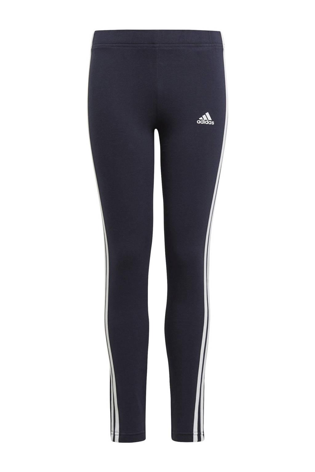 adidas Performance sportlegging donkerblauw/wit, Donkerblauw/wit