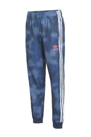 Superstar joggingbroek blauw/wit