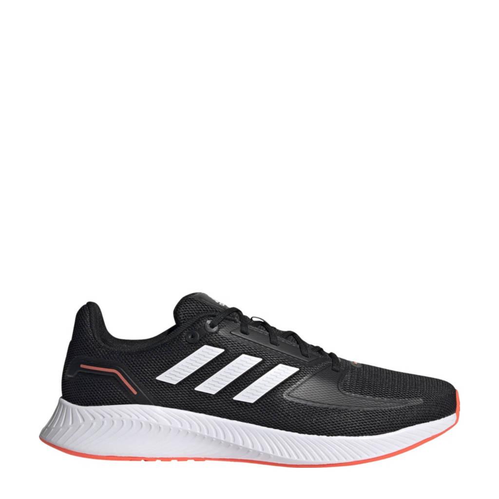 adidas Performance Runfalcon 2.0 hardloopschoenen zwart/wit/rood, Zwart/wit/rood