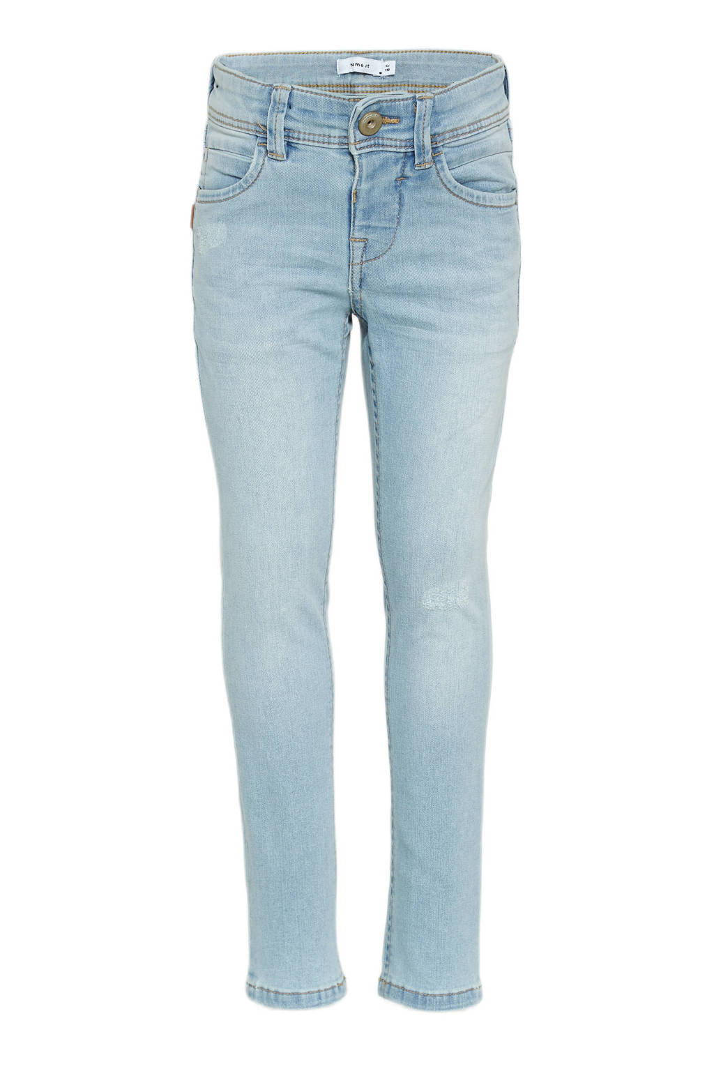 NAME IT KIDS slim fit jeans light blue denim, Light blue denim