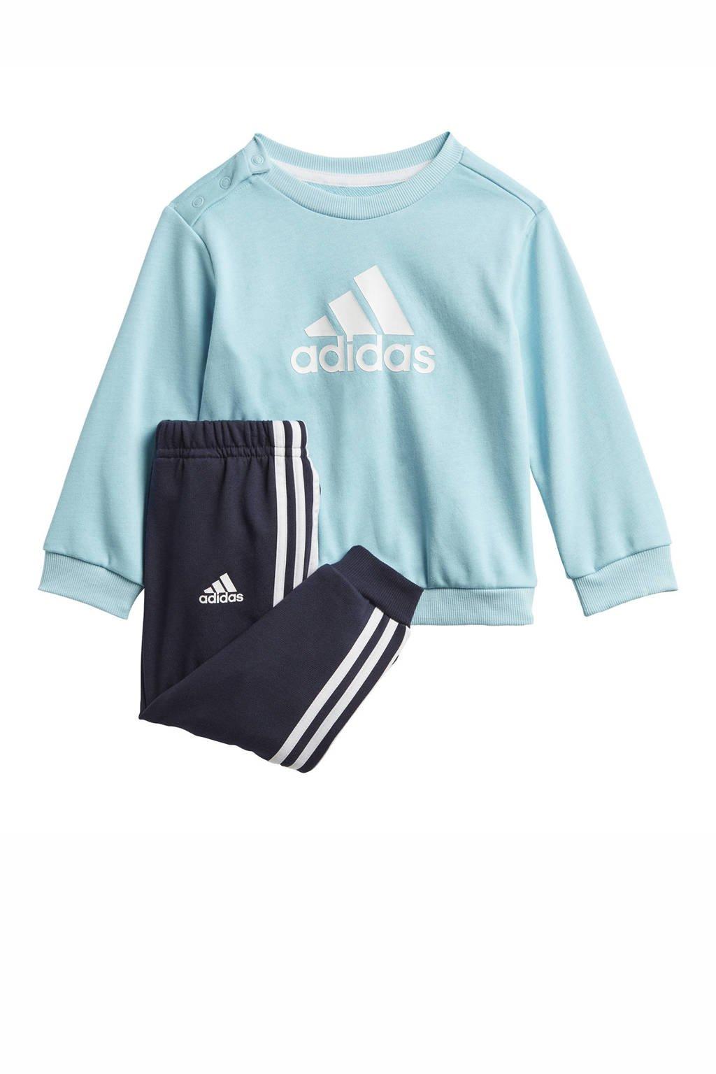 adidas Performance   joggingpak lichtblauw/wit, Lichtblauw/wit