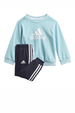 joggingpak lichtblauw/wit